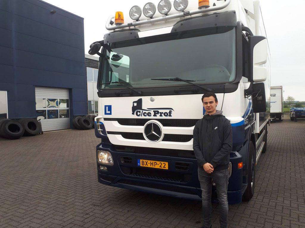 C rijbewijs vrachtwagen voor Gieljan Logchies
