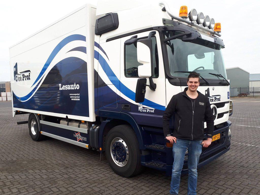 Vrachtwagen rijbewijs C voor Jelle van der Weij