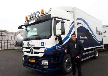 Maarten Leune heeft zijn C Rijbewijs!