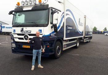 Dirk Janssen behaalt na zijn C rijbewijs ook zijn CE rijbewijs bij rijschool C/CE PROF.