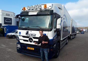 Vrachtwagen met aanhanger rijbewijs wessel hoorn
